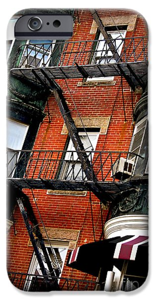 Balcony Photographs iPhone Cases - Boston house fragment iPhone Case by Elena Elisseeva