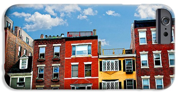 Freedom iPhone Cases - Boston houses iPhone Case by Elena Elisseeva