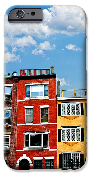 Boston houses iPhone Case by Elena Elisseeva