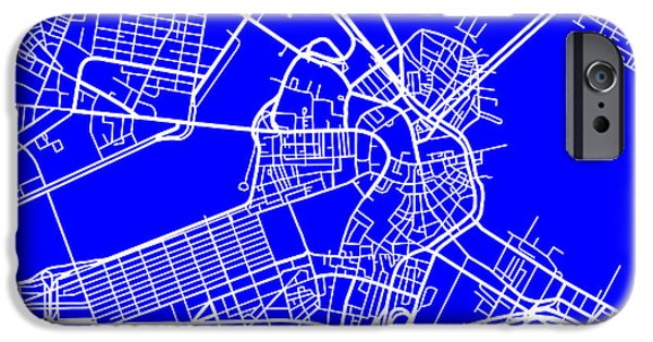 Locations iPhone Cases - Boston Massachusetts City Map Streets Art Print   iPhone Case by Keith Webber Jr