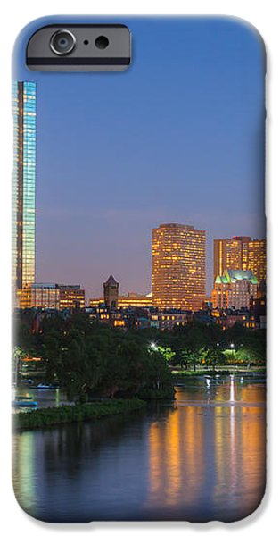 Boston Night Skyline II iPhone Case by Clarence Holmes