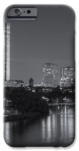 Boston Night Skyline V iPhone Case by Clarence Holmes