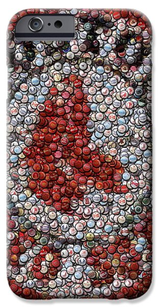 Boston Red Sox Bottle Cap Mosaic iPhone Case by Paul Van Scott
