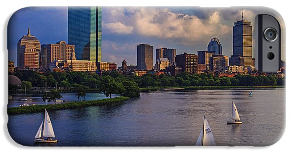 Boston Cityscape iPhone Cases - Boston Skyline iPhone Case by Rick Berk