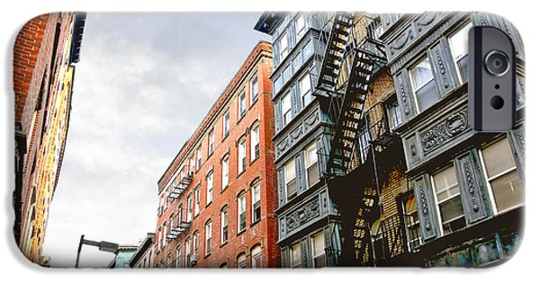 Escape iPhone Cases - Boston street iPhone Case by Elena Elisseeva