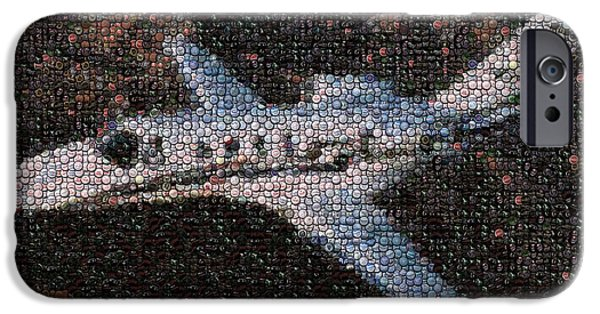 Jet Pyrography iPhone Cases - Bottle Cap Cessna Citation Mosaic iPhone Case by Paul Van Scott