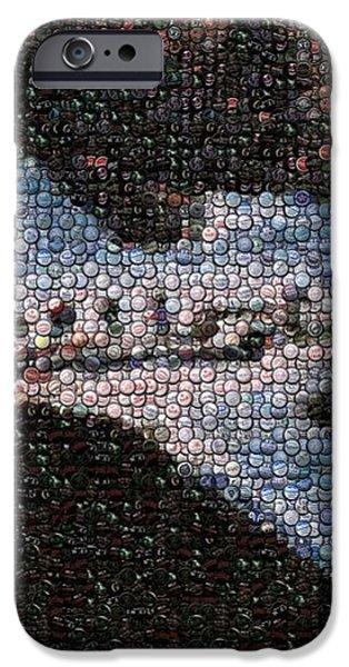 Bottle Cap Cessna Citation Mosaic iPhone Case by Paul Van Scott