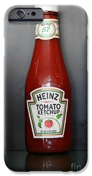 Heinz iPhone Cases - Bottled Ketchup - 5D18039 iPhone Case by Wingsdomain Art and Photography
