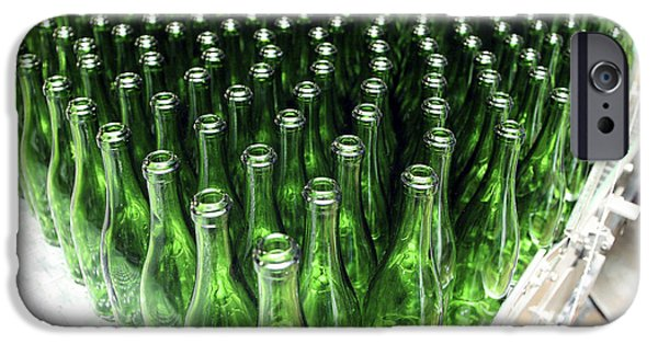 Wine Bottles iPhone Cases - Bottles At A Wine Bottling Factory iPhone Case by Ria Novosti