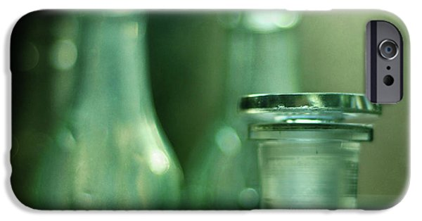 Stopper iPhone Cases - Bottles in the Window iPhone Case by Rebecca Sherman