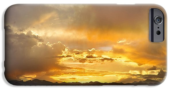 Epic iPhone Cases - Boulder Colorado Flagstaff Fire Sunset View iPhone Case by James BO  Insogna