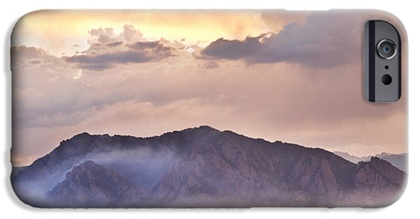 Epic iPhone Cases - Boulder Colorado Flatirons and The Flagstaff Fire iPhone Case by James BO  Insogna