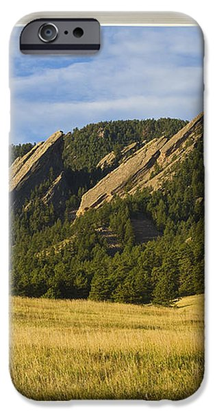 Boulder Colorado Flatirons Window Scenic View iPhone Case by James BO  Insogna