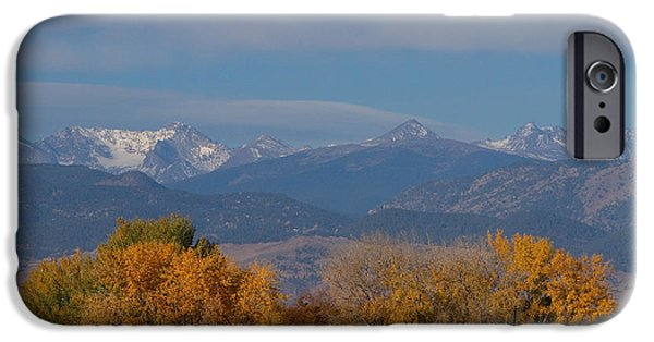 Front Range iPhone Cases - Boulder County Colorado Continental Divide Autumn View iPhone Case by James BO  Insogna