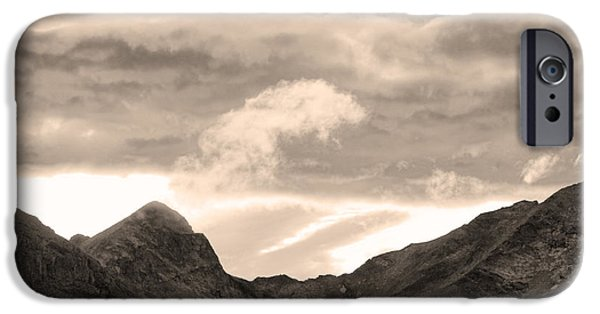 Striking Photography iPhone Cases - Boulder County Indian Peaks Sepia Image iPhone Case by James BO  Insogna