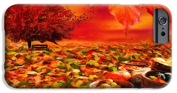 Autumn iPhone Cases - Bounteous iPhone Case by Lourry Legarde