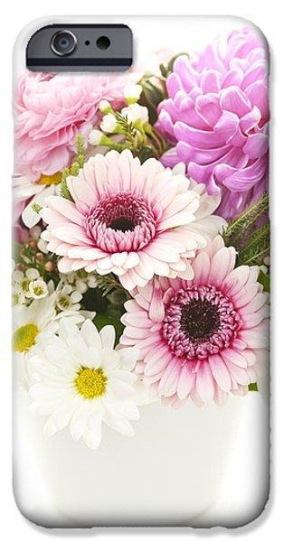 Flower Bouquet iPhone Cases - Bouquet of flowers iPhone Case by Elena Elisseeva