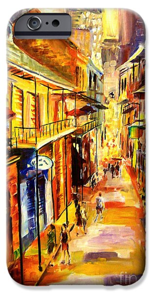 Big Easy iPhone Cases - Bourbon Street Glitter iPhone Case by Diane Millsap