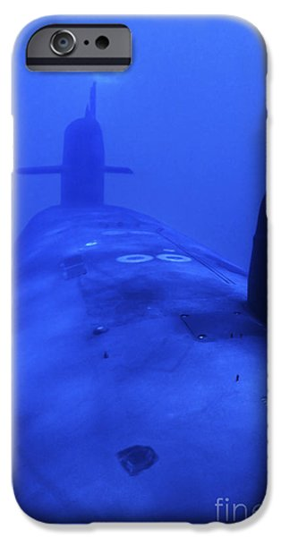 Bow View Of The Uss Kamehameha iPhone Case by Michael Wood