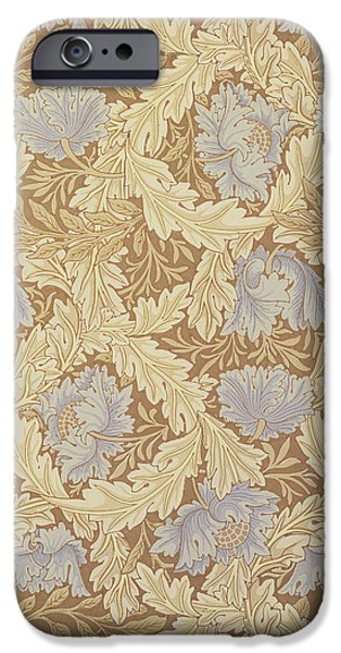 Florals Tapestries - Textiles iPhone Cases - Bower Wallpaper Design iPhone Case by William Morris