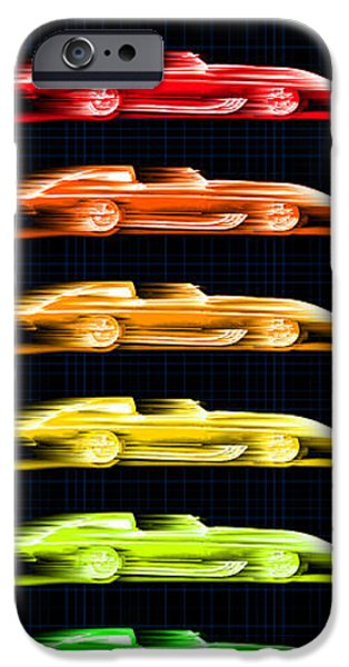 Automotive iPhone Cases - 1959 Stingray Box of Crayons iPhone Case by K Scott Teeters
