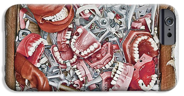 Technical iPhone Cases - Box of Dental Equipment iPhone Case by Skip Nall