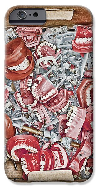 Box of Dental Equipment iPhone Case by Skip Nall