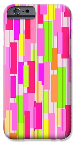 Box iPhone Cases - Boxed Stripe iPhone Case by Louisa Knight