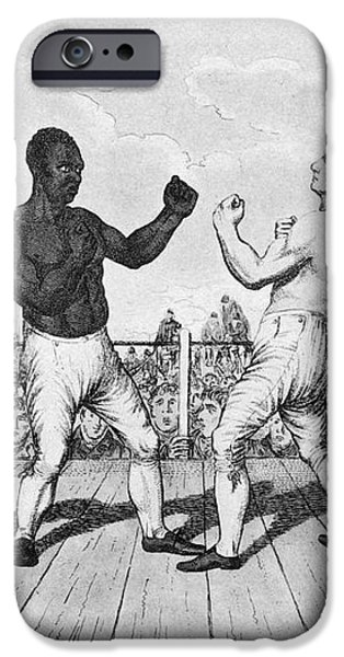 BOXING: CRIBB v. MOLINEAUX iPhone Case by Granger