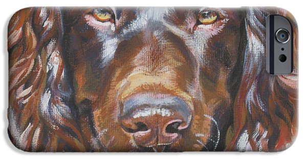 Mahogany Red iPhone Cases - Boykin Spaniel iPhone Case by Lee Ann Shepard