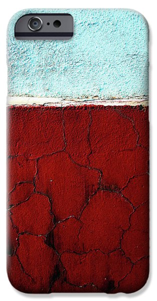 Red Abstract Pyrography iPhone Cases - Br iPhone Case by Inessa Burlak