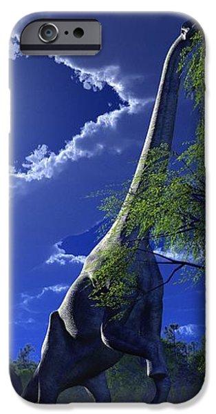 Brachiosaurus Dinosaurs, Artwork iPhone Case by Roger Harris