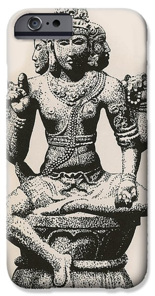 Religious Art iPhone Cases - Brahma, Hindu God iPhone Case by Photo Researchers