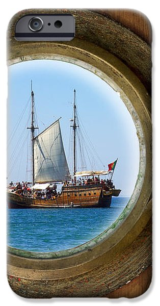 Brass Porthole iPhone Case by Carlos Caetano
