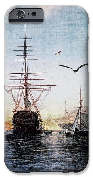 Sailboat Ocean iPhone Cases - Brave New World iPhone Case by Lianne Schneider