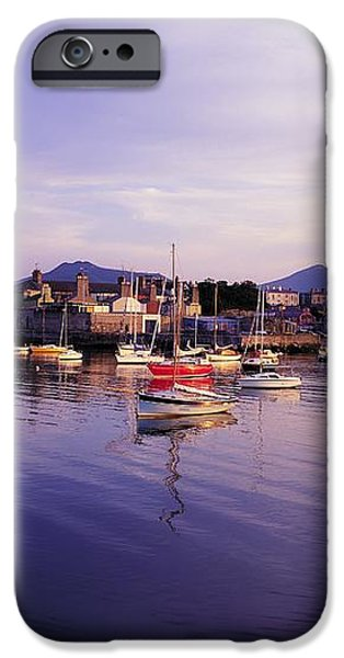 Bray Harbour, Co Wicklow, Ireland iPhone Case by The Irish Image Collection