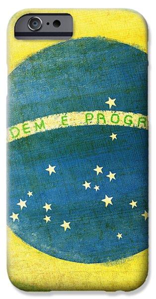 Brazil flag iPhone Case by Setsiri Silapasuwanchai