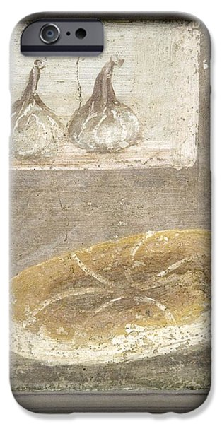 Bread And Figs, Roman Fresco iPhone Case by Sheila Terry