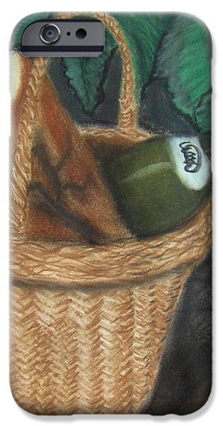Basket Pastels iPhone Cases - Bread and Wine iPhone Case by M and L Creations
