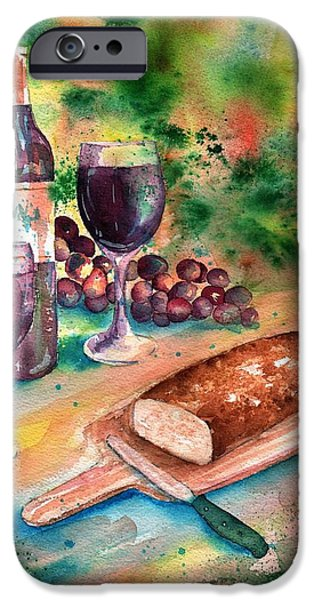 Loaf Of Bread iPhone Cases - Bread and Wine iPhone Case by Sharon Mick