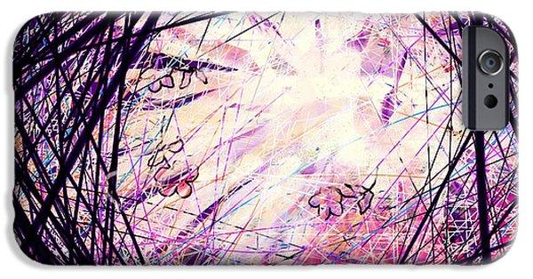 Hallucination iPhone Cases - Breakdown iPhone Case by Rachel Christine Nowicki