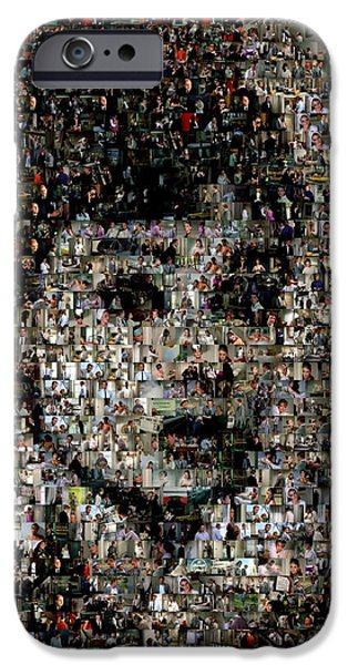 At Poster Mixed Media iPhone Cases - Breakfast at Tiffanys Mosaic iPhone Case by Paul Van Scott