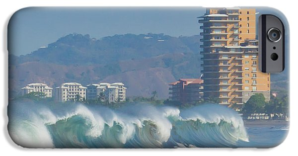 Jaco iPhone Cases - Breaking Waves in Costa Rica iPhone Case by Anthony Doudt