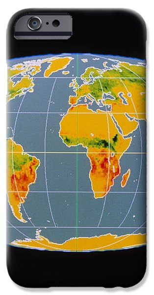 'breathing Earth' Co2 Input/output, Global Map iPhone Case by Nasa