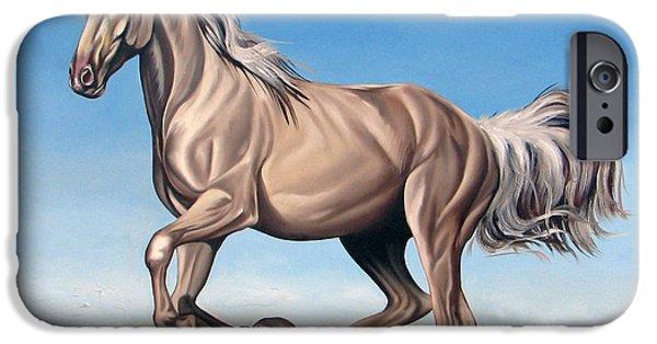Horses iPhone Cases - Breeze iPhone Case by Ilse Kleyn