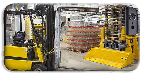 Storage Furniture iPhone Cases - Brewery And Drinks Industry Warehouse iPhone Case by Jaak Nilson