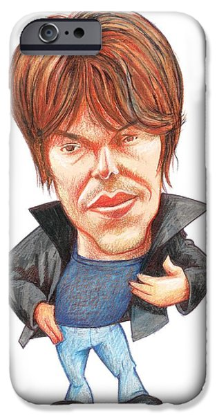 Brian Cox, Caricature iPhone Case by Gary Brown