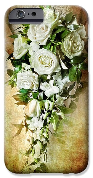 Green Roses iPhone Cases - Bridal Bouquet iPhone Case by Meirion Matthias