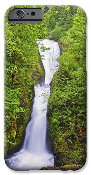 River View iPhone Cases - Bridal Veil Falls In Columbia River iPhone Case by Craig Tuttle
