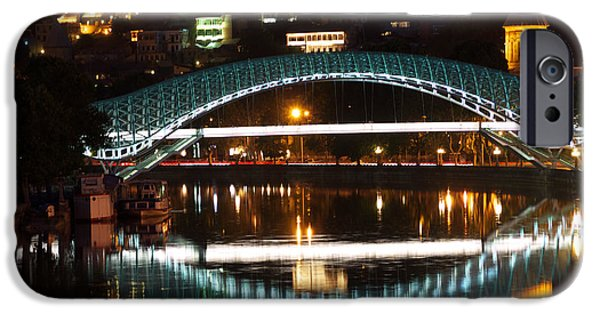 Tbilisi Photographs iPhone Cases - Bridge iPhone Case by Ivan Slosar